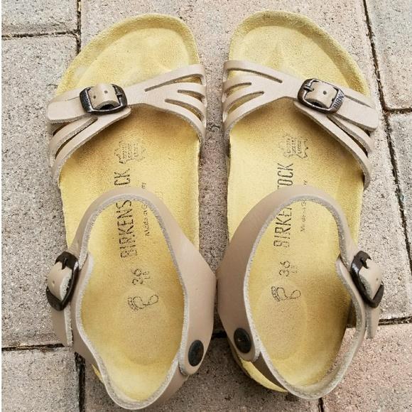9dd0618b849 Rare Birkenstock Bali Tan Ankle Strap Sandals